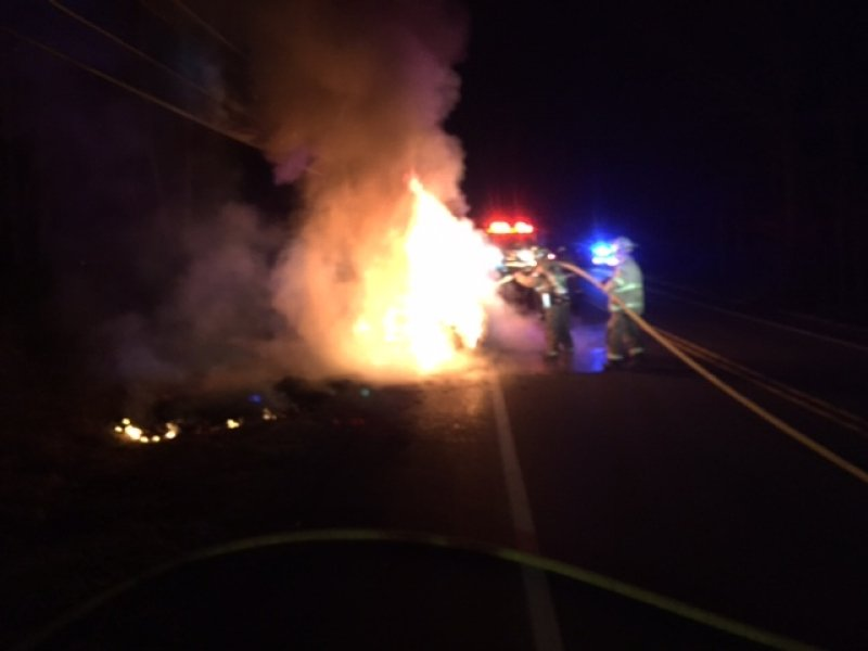 WORKING CAR FIRE ON ROUTE 903
