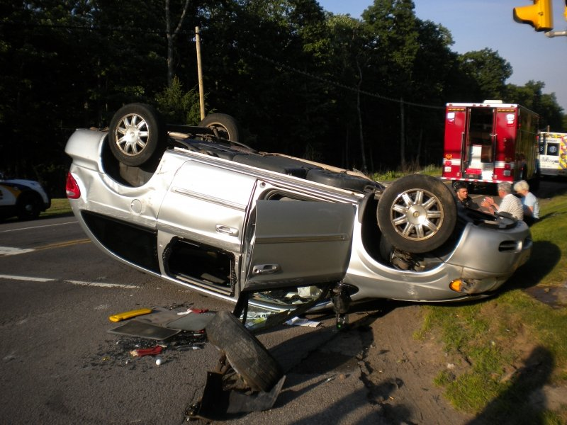 TWO VEHICLE CRASH WITH ROLLOVER SENDS TWO TO THE HOSPITAL