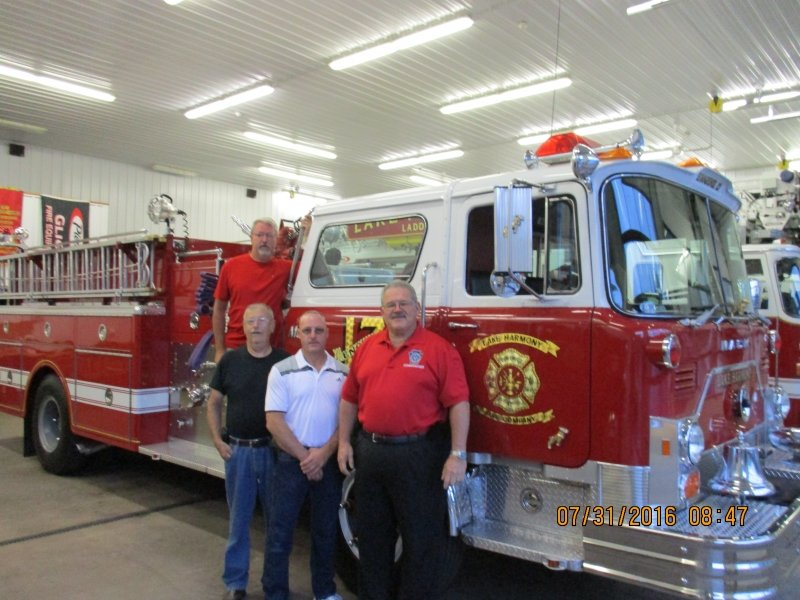 PENNSYLVANIA STATE FIRE COMMISHINOER VISITS LAKE HARMONY FIRE COMPANY
