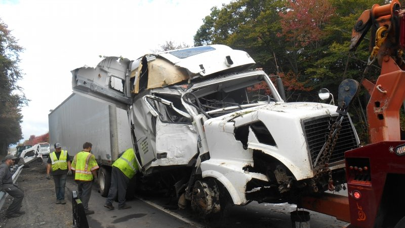 ROUTE 80 TRACTOR TRAILER CRASH