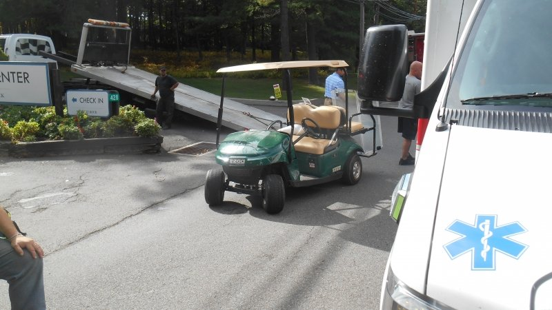 GOLF CART CRASHES IN SPLIT ROCK