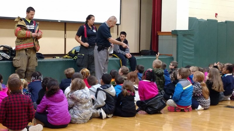 LAKE HARMONY, ALBRIGHTSVILLE & PENN FORREST CONDUCT FIRE PREVENTION PROGRAM