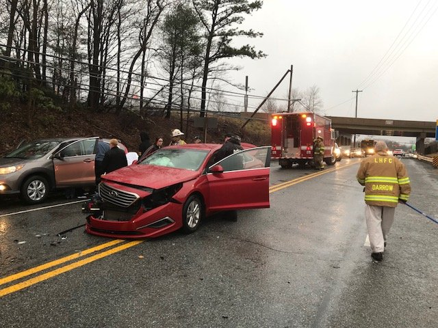 TWO VEHICLE CRASH ON ROUTE 940 NEAR THE HOLIDAY INN