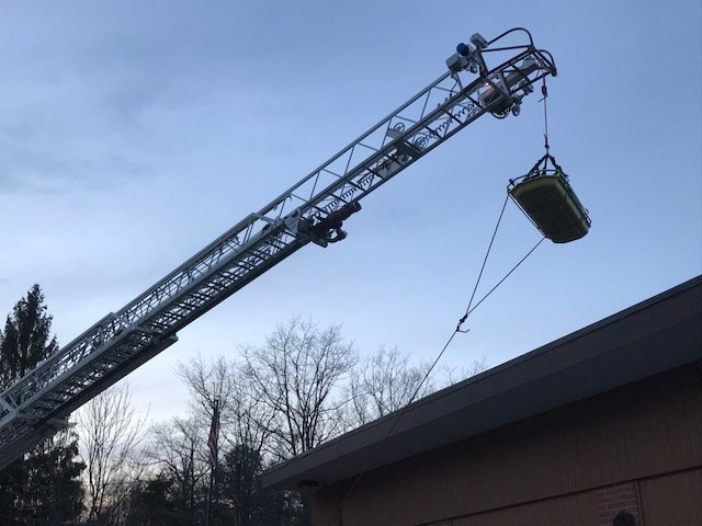 HIGH ANGLE STOKES RESCUE TRAINING AT STATION 17
