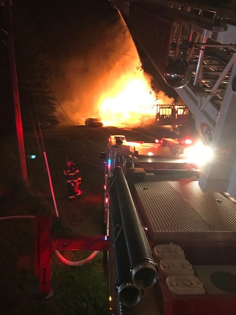 WORKING DWELLING FIRE IN TOWAMENSING TRAILS ON OLD STAGE ROAD