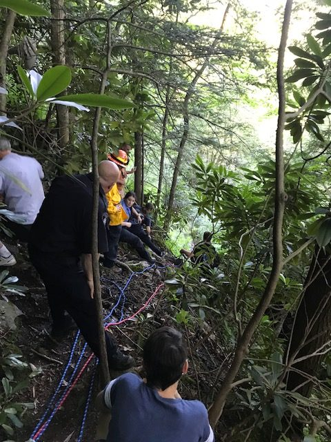HIGH ANGLE RESCUE AT HAWK FALLS